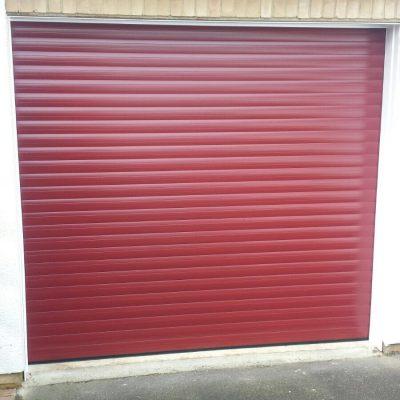Single Roller Garage Door in Red