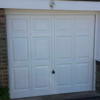 Single Panel White Garage Door